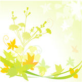 Autumn. Elements with abstract waves Stock Images
