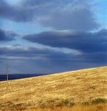 Autumn. Gold autumn grass and cloudy sky. Crimea, Ukraine Stock Photo