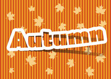 Autumn. Vector autumn; realistic cut, takes the background color Royalty Free Stock Photography