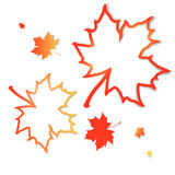 Autumn. With abstract maple leaves frames over white vector illustration