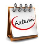 Autumn. 3d calendar with word autumn  on white background Stock Photo