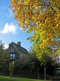 Autumn. English house garden during autumn royalty free stock images