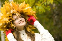 In the autumn Stock Image
