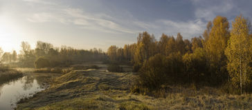 Autumn. Morning autumn landscape. Ural, Russia Stock Photography