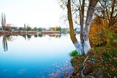 Autumn湖 图库摄影