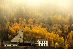 Autumn at the Abandoned Gilman Mine. In Eagle County, Colorado Royalty Free Stock Photo