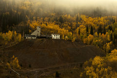 Autumn at the Abandoned Gilman Mine. In Eagle County, Colorado Royalty Free Stock Image