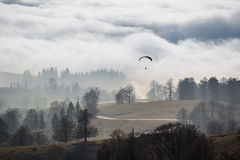 Autumn above the clouds Royalty Free Stock Photos