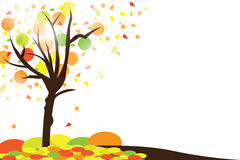 Autumn abstract background. With leaf Stock Image