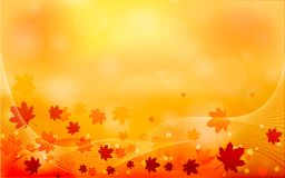 Autumn abstract background. Autumn leaves autumn landscape background. Eps 10. Autumn abstract background. Autumn leaves autumn landscape background vector illustration
