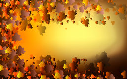 Autumn Abstract Background. Abstract  background design with warm autumn leaves illustration Royalty Free Stock Image