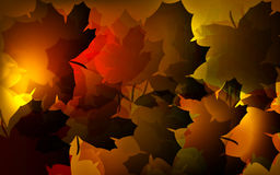 Autumn Abstract Background. Abstract  background design with warm autumn leaves illustration Royalty Free Stock Photos