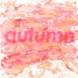 Autumn abstract background with inscription. Autumn abstract background with scattered particles with the inscription vector illustration