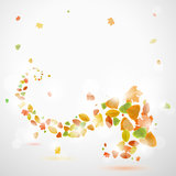 Autumn abstract background with leaves. Eps10  illustration Stock Image