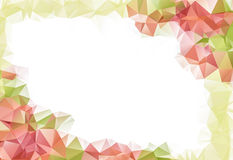 Autumn abstract background with low poly leaf. With space for your text Stock Images
