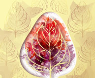 Autumn abstract background with watercolor splashes. And paper elements Stock Photography
