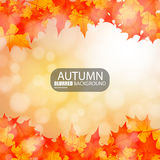 Autumn abstract blurred background. EPS10 Royalty Free Stock Images