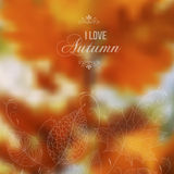 Autumn abstract blurred vector background Stock Photo