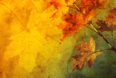 Autumn abstract. Colorful autumn abstract background illustration with fall leaves and copy space