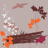 Autumn abstract design. Nature decorative composition-abstract vector illustration vector illustration