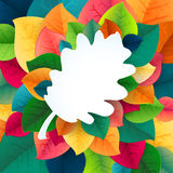 Autumn abstract fall leaves vector background Royalty Free Stock Photography