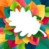 Autumn abstract fall leaves vector background Royalty Free Stock Images