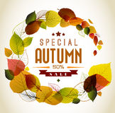 Autumn abstract floral background stock illustration