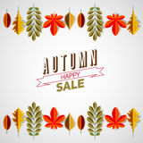 Autumn abstract floral background circle made from minimalist Royalty Free Stock Image