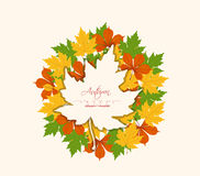 Autumn abstract floral background. For design Royalty Free Stock Images