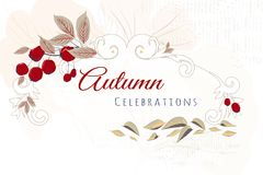 Autumn abstract floral background Stock Images