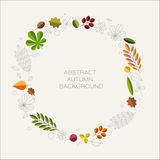 Autumn abstract floral background with place for your text Royalty Free Stock Photo
