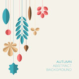 Autumn abstract floral background with place for your text Royalty Free Stock Images