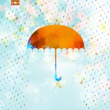 Autumn with abstract geometric shapes. EPS 10. Autumn card with abstract geometric shapes umbrella. And also includes EPS 10 vector Stock Photos
