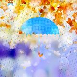 Autumn with abstract geometric shapes. EPS 10. Autumn card with abstract geometric shapes umbrella. And also includes EPS 10 vector Royalty Free Stock Image