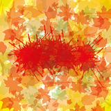 Autumn abstract illustration Stock Images