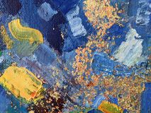Autumn abstract painting art with natural acrylic textures on the canvas. For creation of creative banners, wedding cards, galleries and different your Stock Images