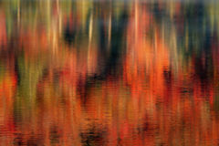Autumn Abstract Reflections Royalty Free Stock Photography