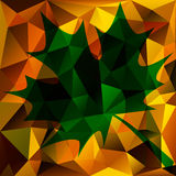 Autumn Abstract Triangle Background Royalty Free Stock Photos