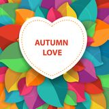 Autumn abstract vector background for fabric, web, Royalty Free Stock Photography