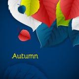 Autumn abstract vector background. Stock Photo