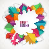 Autumn abstract vector background. simple Royalty Free Stock Photo