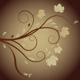 Autumn abstract vector floral royalty free illustration