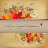 Autumn Abstract Vintage Background. Vector Stock Photo