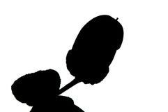 Autumn acorn silhouette Stock Photo