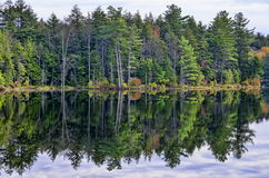 Autumn Adirondack Lake Water Reflections nessun 13 Fotografia Stock