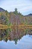Autumn Adirondack Lake Water Reflections ningún 13 fotografía de archivo