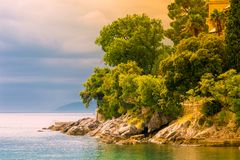 Adriatic coast in autumn stock images