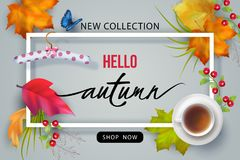 Autumn Advertising Banner illustration de vecteur