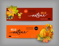 Autumn Advertising Banner Image libre de droits