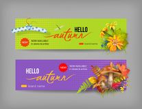 Autumn Advertising Banner illustration libre de droits